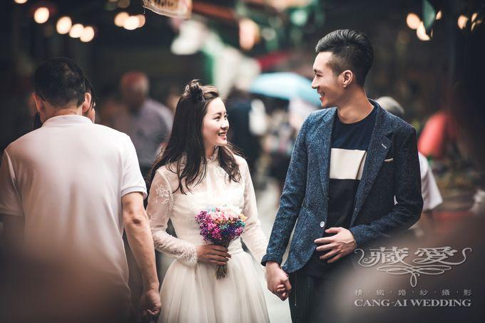 Bustling Street of Hong Kong by Cang Ai Wedding - 009