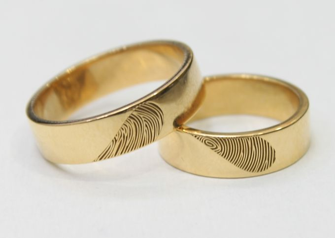 wedding ring engrave & finger print d'sign by V&Co Jewellery - 007