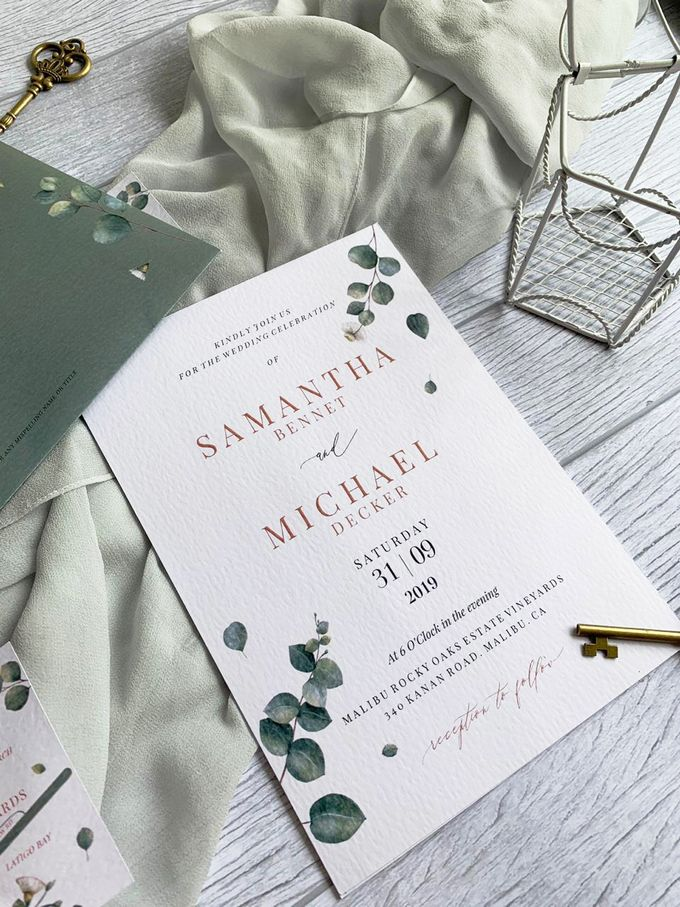 Eucalyptus Greenery by Trouvaille Invitation - 002