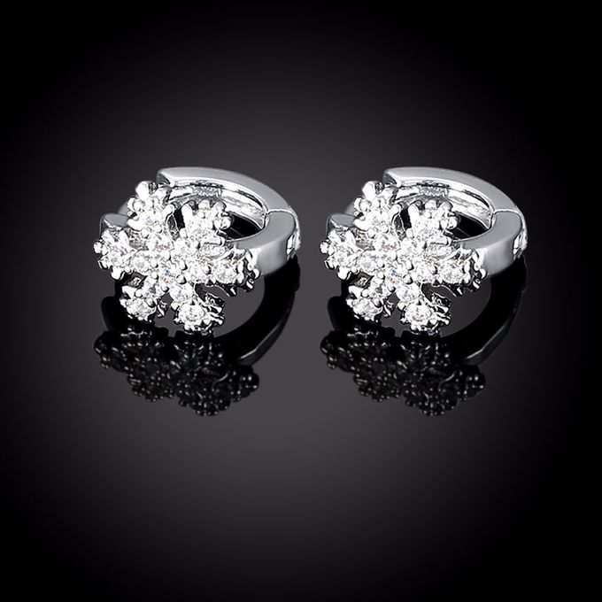 TIARIA Diamond Snowflake Gold Earring Perhiasan Anting Emas Berlian by TIARIA - 002