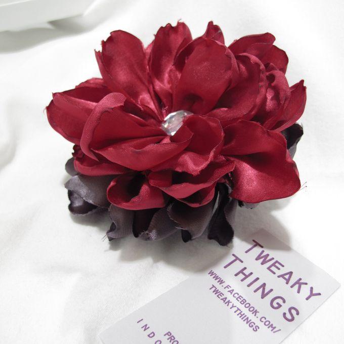 Flower brooch and hairclip by TweakyThings - 002