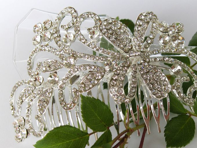 Bridal Hair Comb by Pamela Falli - 010