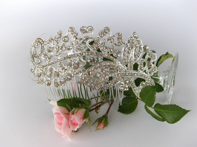 Bridal Hair Comb by Pamela Falli - 015