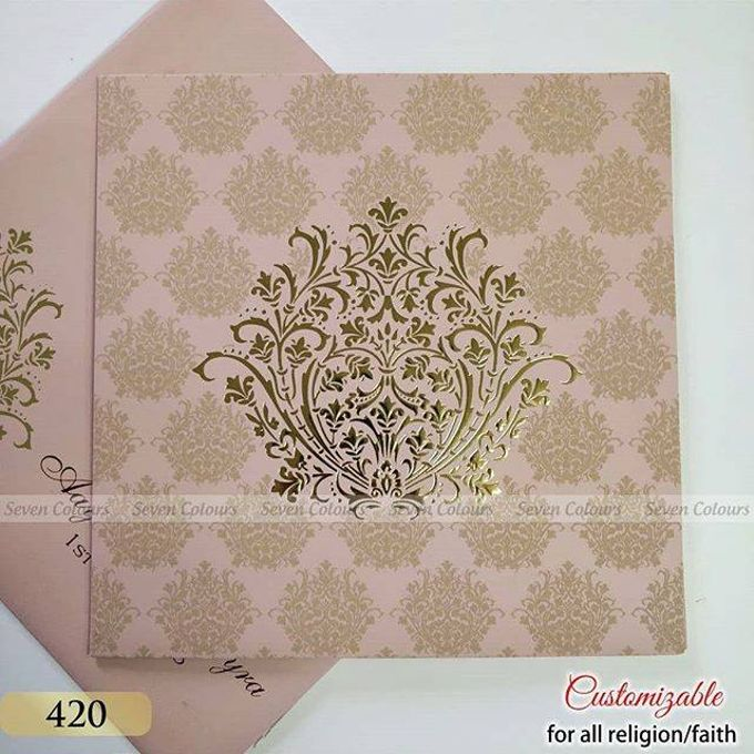 Designer wedding invitations collection by SEVEN COLOURS CARD - 001