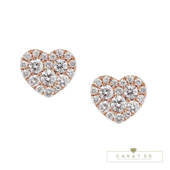 Diamond Heart Earrings by Carat 55 - 003
