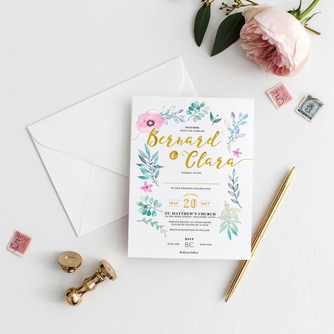Botanical Invitation Cards by mylin design & co. - 002
