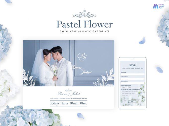 Pastel Flower Online Wedding Invitation By Miacompany Id