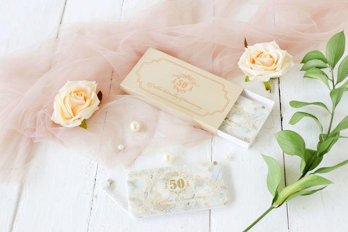 Golden Wedding Anniv - Custom powerbank by PORTÉ by Clarin - 001
