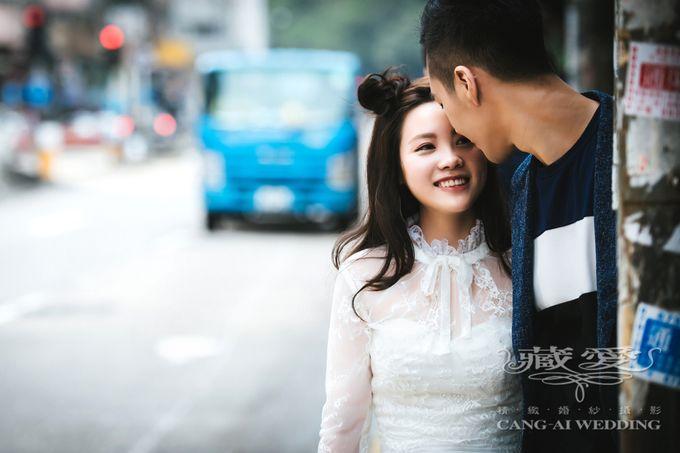 Bustling Street of Hong Kong by Cang Ai Wedding - 010