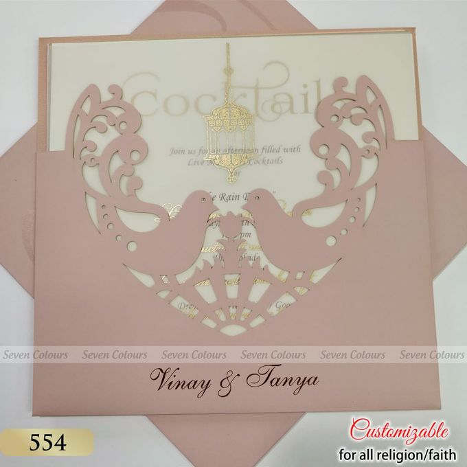 Designer wedding invitations collection by SEVEN COLOURS CARD - 005