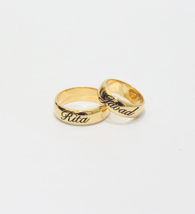 wedding ring engrave & finger print d'sign by V&Co Jewellery - 002