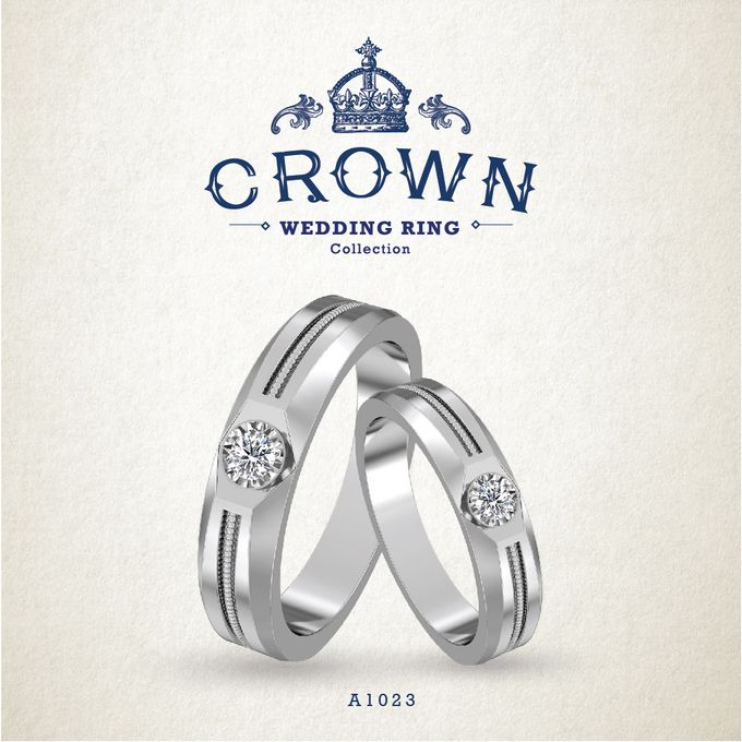 Crown Wedding Ring by Adelle Jewellery - 006