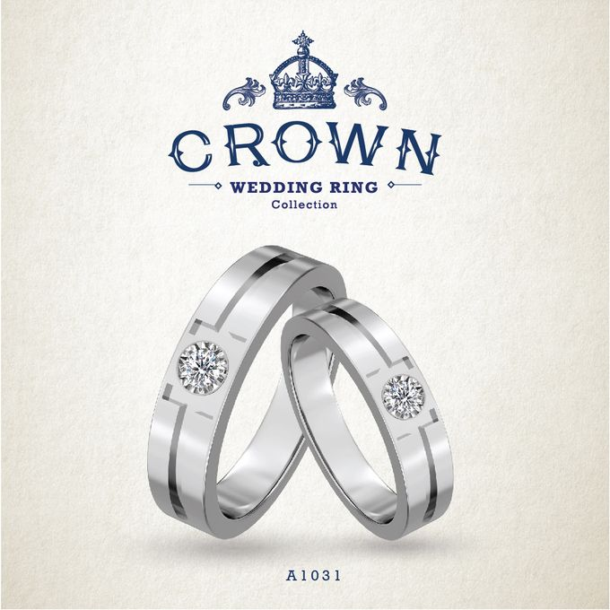 Crown Wedding Ring by Adelle Jewellery - 007