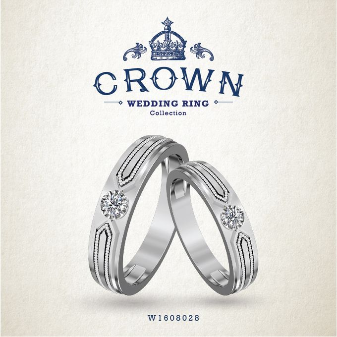 Crown Wedding Ring by Adelle Jewellery - 008