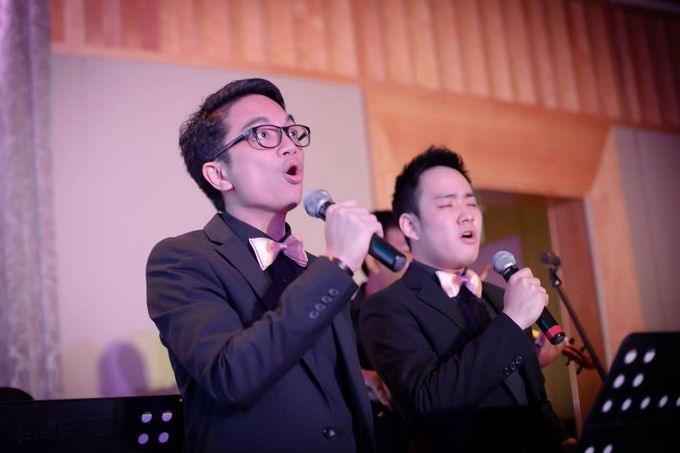 Disney Songs in Orchestra Style in Fullerton Hotel Singapore - Yohanes Bahari & Yohanna Stephanie Wedding by Ring of Blessings - 003