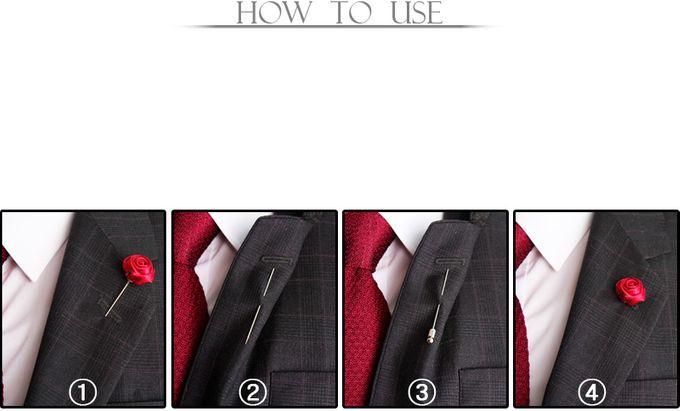 8c0127763dc Add To Board Collar Bar Lapel Pin Bros Jas Wedding Best Man FLOWER SATIN  BROWN DARK LAPEL PIN by