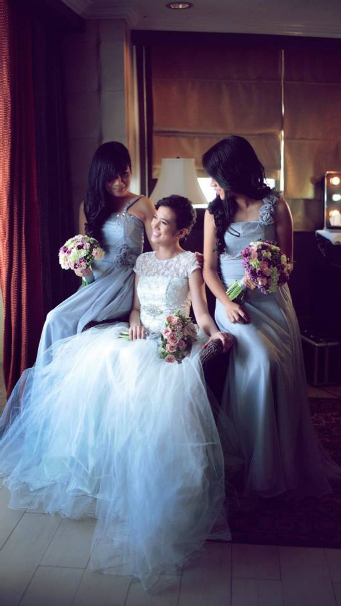 Peach and Silver Pastel Wedding by Marga Florist - 003