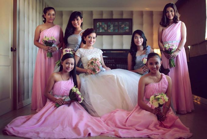 Peach and Silver Pastel Wedding by Marga Florist - 004