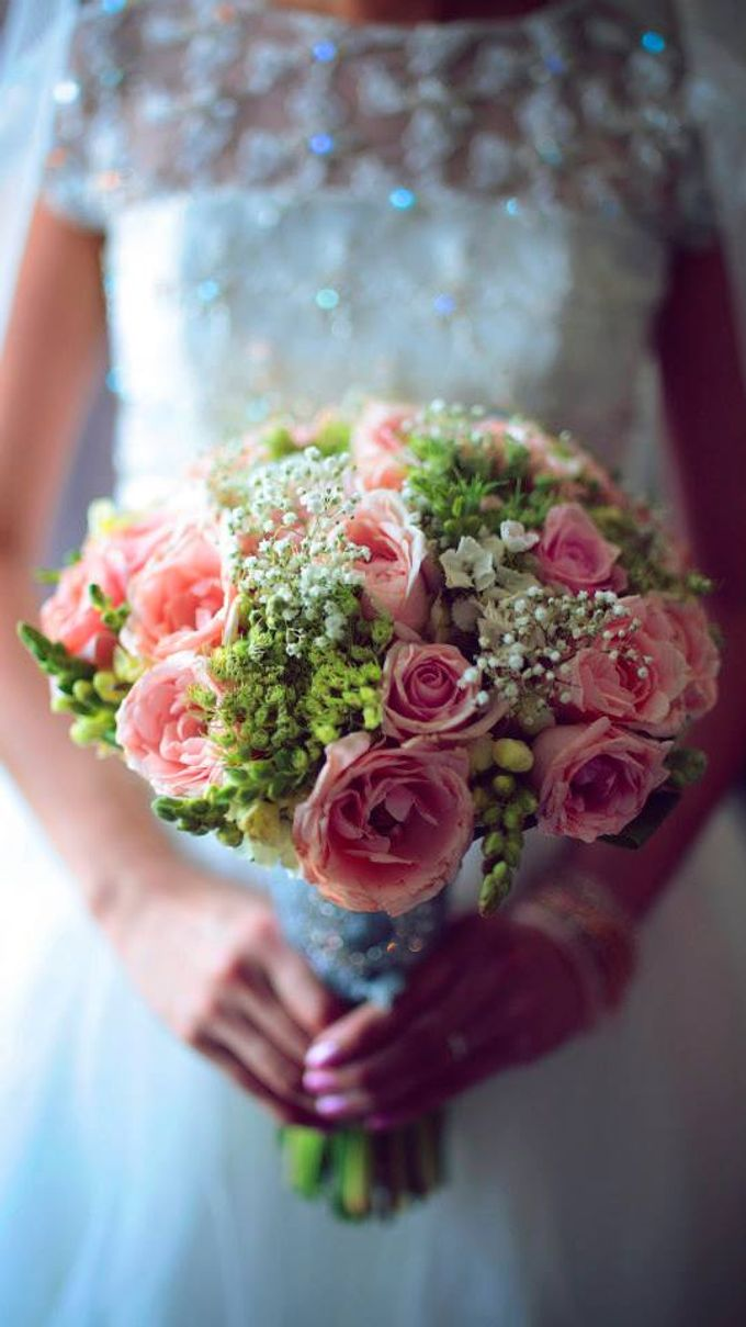 Peach and Silver Pastel Wedding by Marga Florist - 001