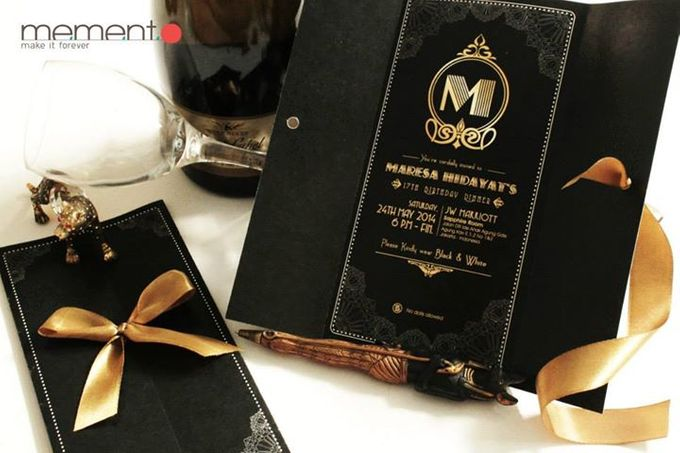 The Great Gatsby Invitation By Memento Idea Bridestory Com