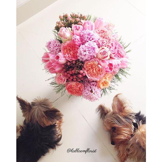 Pinterest inspired bridal bouquet by La Bloom Florist - 014