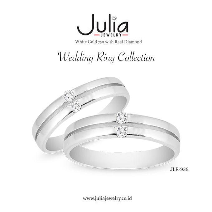 Jeulia Ring  1 9CT White Wedding Ring Set amp Engagement