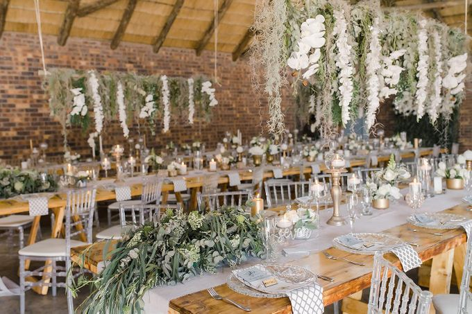 Sage and white wedding Flowers by Ethereal Events Co. - 007