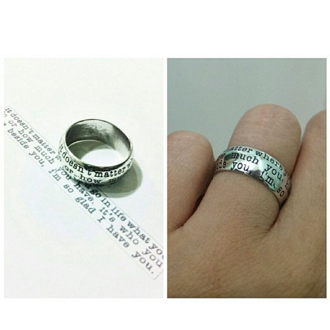 wedding ring engrave & finger print d'sign by V&Co Jewellery - 018
