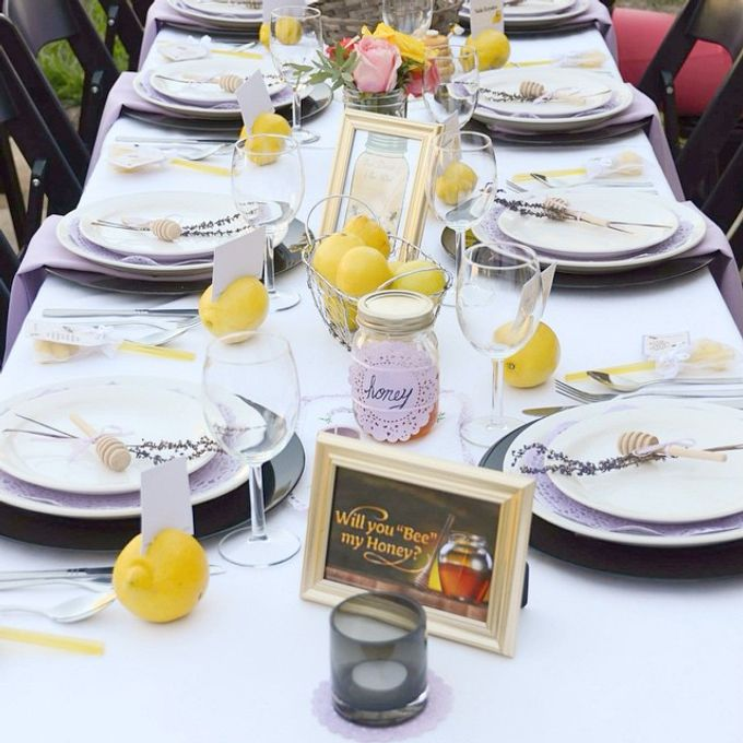 Honey+Lemon lover bridal shower  by L&A Event Designs - 004