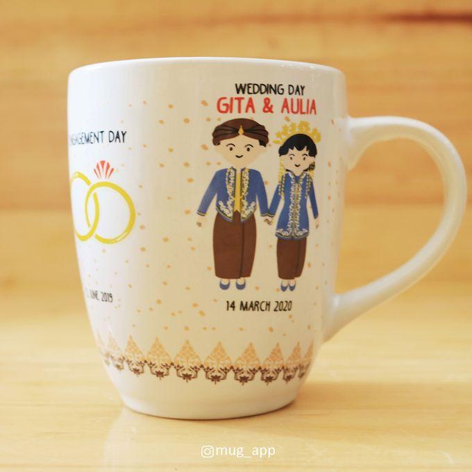 MUG CORNING WEDDING GITA & AULIA by Mug-App Wedding Souvenir - 001