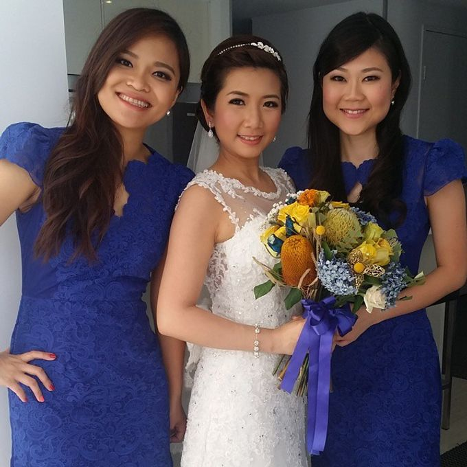 Bridal party makeup by Elly Liana Makeup Artist - 003