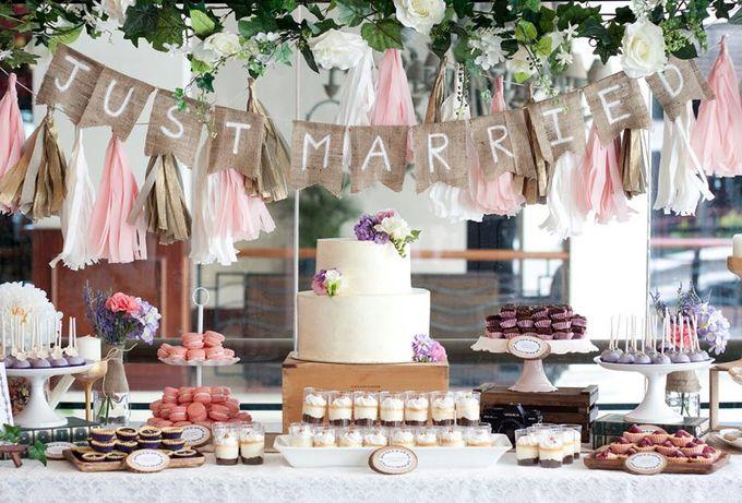 Floral Wedding Cake by Teaspoon of Love - 003