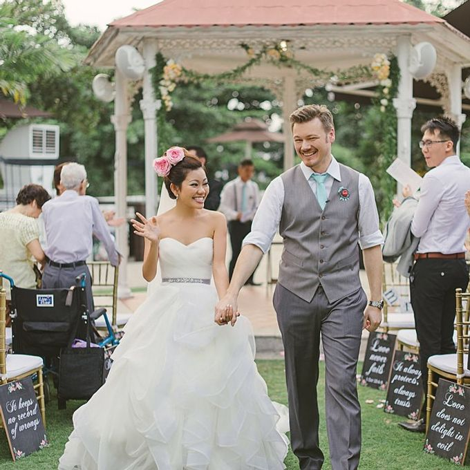 A Little Rustic  A little Vintage  A little Classy Wedding Ceremony at Alkaff Mansion by Regina Mae Fleurs Atelier Pte Ltd - 001