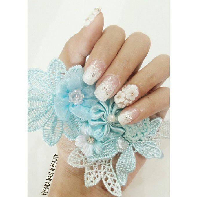 custom wedding nails by Veeana Nails - 005