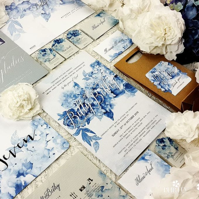 Hydrangea Blossoms Invitation by PurityCard - 001