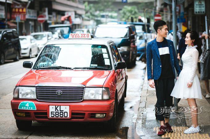 Bustling Street of Hong Kong by Cang Ai Wedding - 011