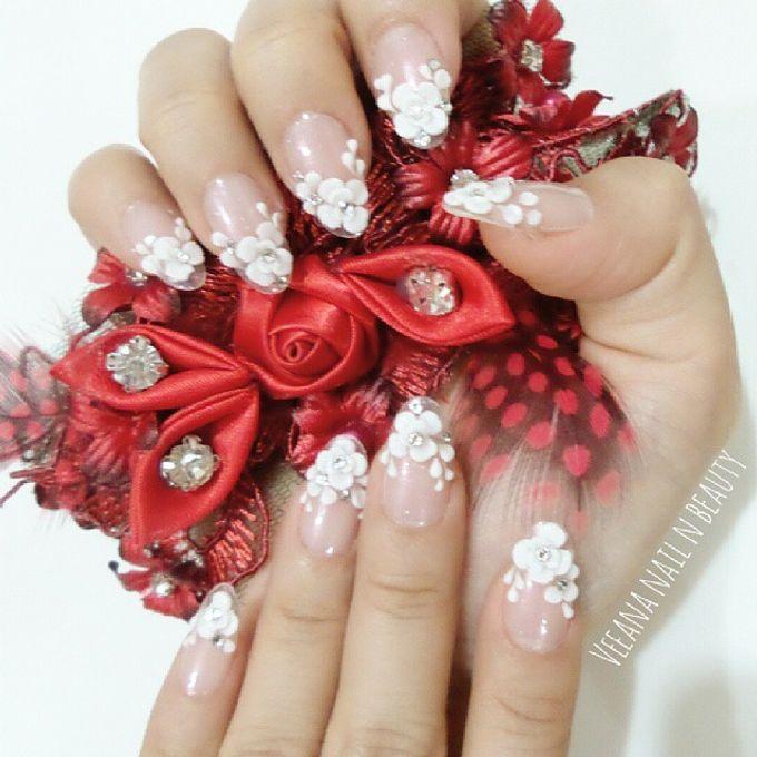 custom wedding nails by Veeana Nails - 009