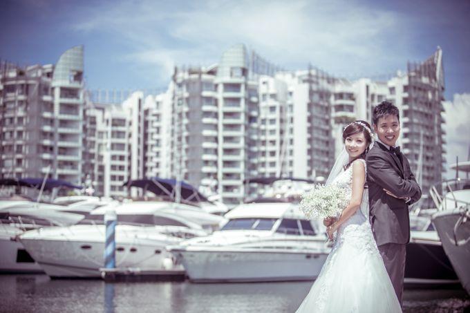 Pre-wedding shoot by the marina by ONE°15 Marina Sentosa Cove, Singapore - 002