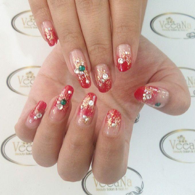 custom wedding nails by Veeana Nails - 008