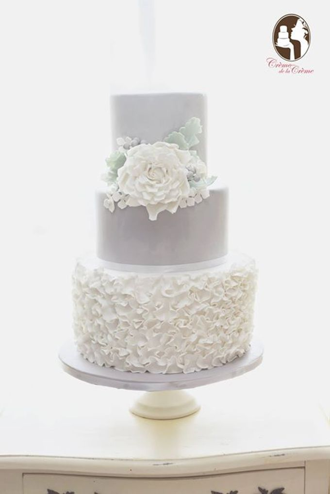 The Wedding Cake of Alex & Janice by Creme de la Creme Bali - 001