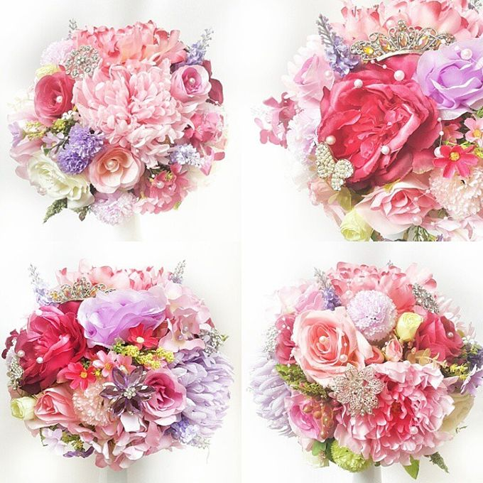 WHIMSICAL WEDDING BOUQUET by LUX floral design - 005