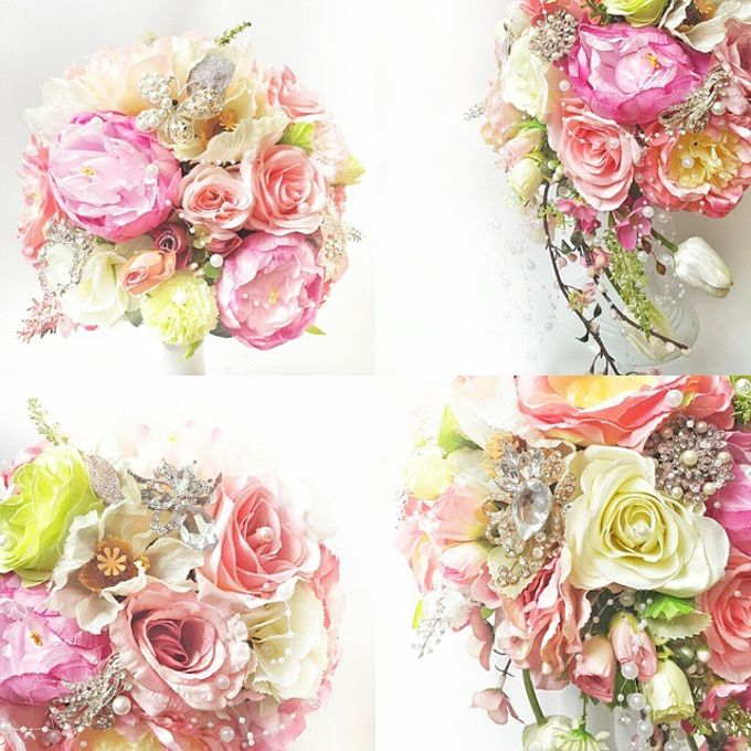 WHIMSICAL WEDDING BOUQUET by LUX floral design - 006