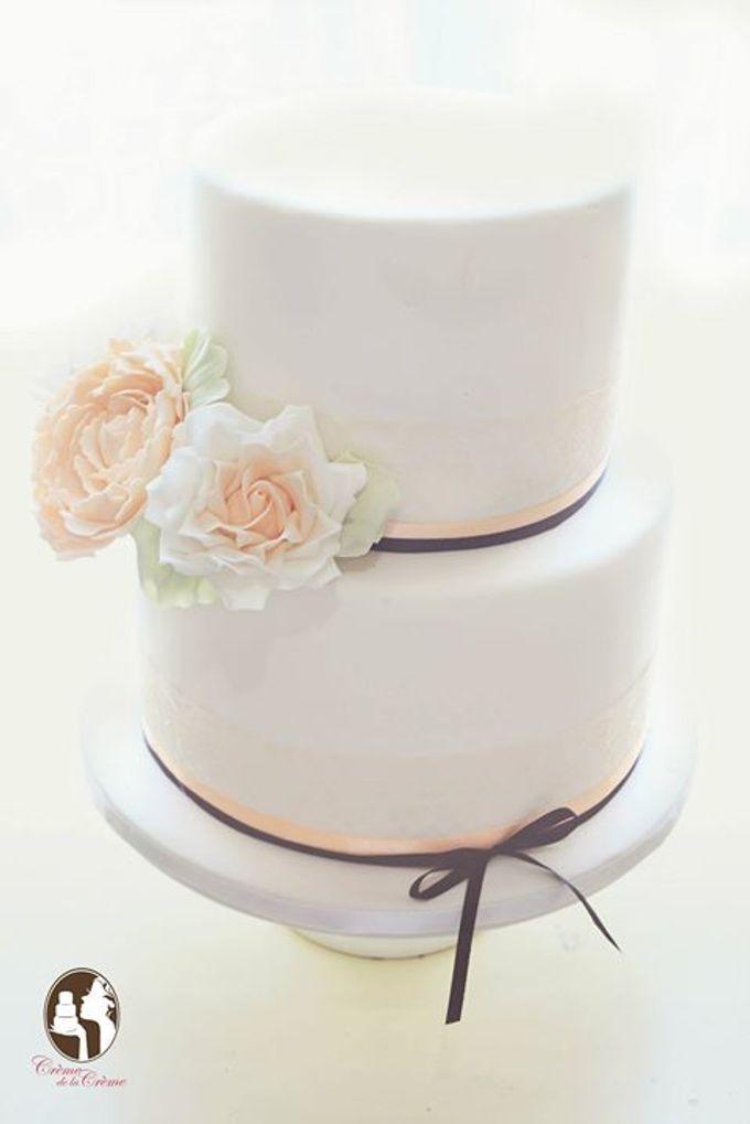 The Wedding Cake of Asleigh & Kylie by Creme de la Creme Bali - 001
