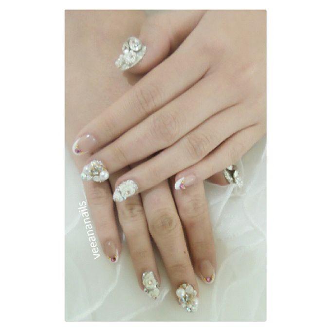 custom wedding nails by Veeana Nails - 002