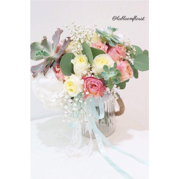 Pinterest inspired bridal bouquet by La Bloom Florist - 006