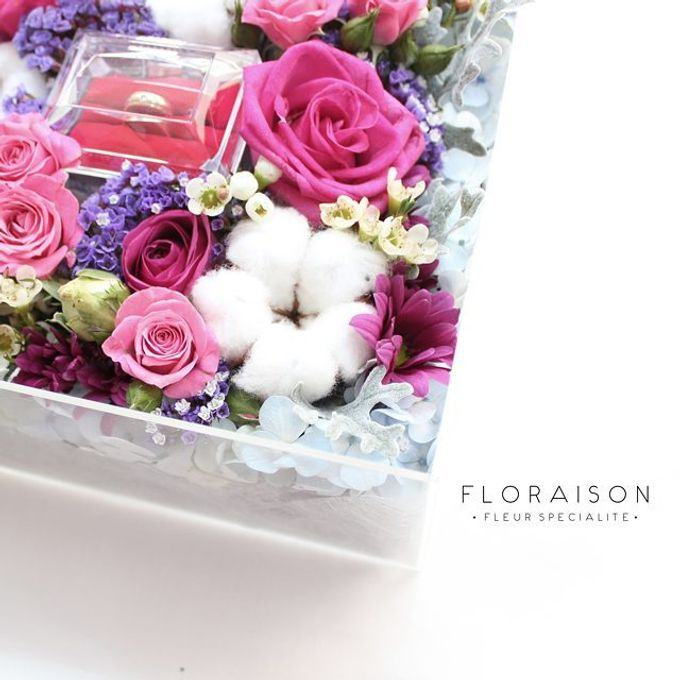 """See me Thru"" Bloom box by Floraison - 013"