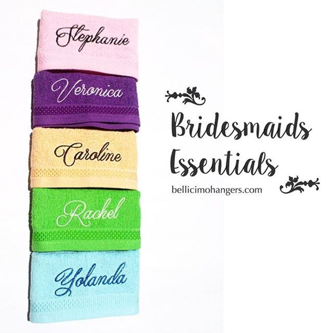 Bridesmaids Essentials - Embroidery Handkerchief by Béllicimo Personalized Hanger & Favors - 005