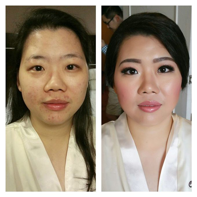 Before and After by Elly Liana Makeup Artist - 001