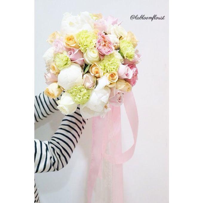Pinterest inspired bridal bouquet by La Bloom Florist - 011