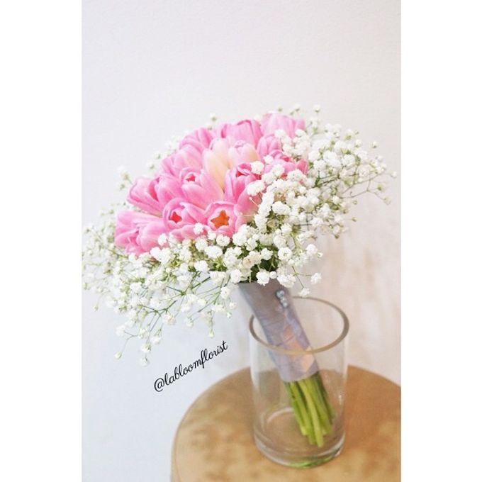 Pinterest inspired bridal bouquet by La Bloom Florist - 010
